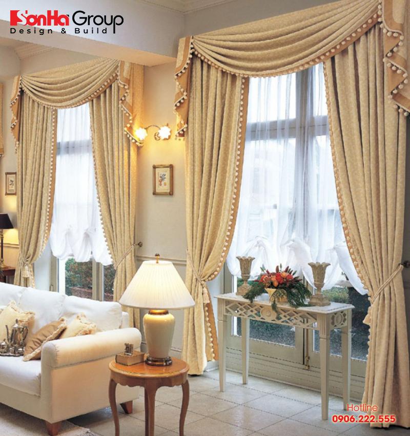 Việc lựa chọn rèm phù hợp quyết định thành công mẫu thiết kế phòng khách