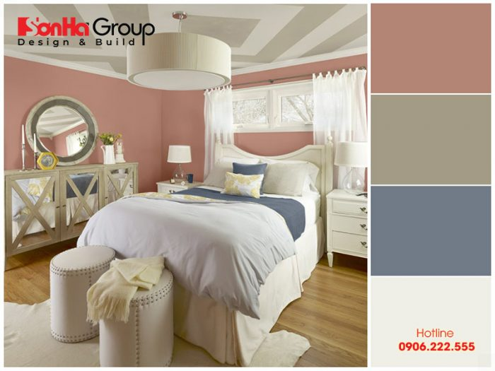 Gam màu pastel tạo cảm giác thăng hoa cho phòng ngủ vợ chồng mới cưới