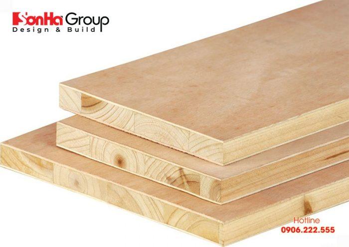 Gỗ ghép veneer sồi có thành phần cốt gỗ là gỗ ghép thanh