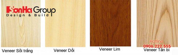 Hiện nay trên thị trường có rất nhiều loại gỗ veneer với các đặc trưng khác nhau