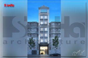 BÌA thiết kế khách sạn 2 sao mini tân cổ điển tại nam định sh ks 0061