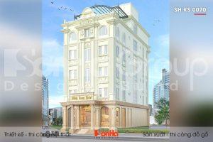 BÌA mẫu khách sạn 3 sao 5 tầng kiểu tân cổ điển tại hà nội sh ks 0070