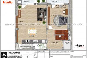 17 Bản vẽ tầng 4 nhà ống hiện đại 6 tầng tại hà nội sh nod 0211