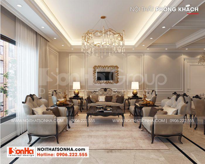 Ý tưởng trang trí phòng khách với nội thất tân cổ điển sang trọng và tinh tế