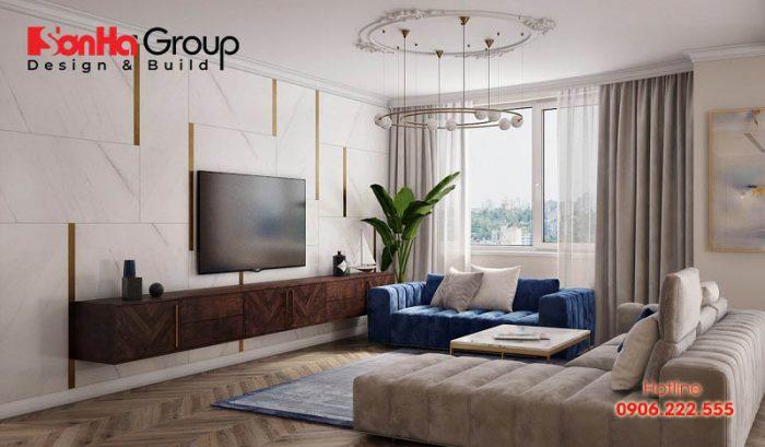 Áp dụng nguyên tắc sử dụng maug sắc 6 – 3 – 1 cho không gian phòng khách thêm đẹp và sang