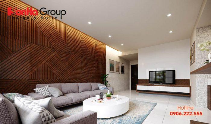Diện tích cũng là yếu tố quan trọng trong việc quyết định đến gam màu chủ đạo của không gian phòng khách