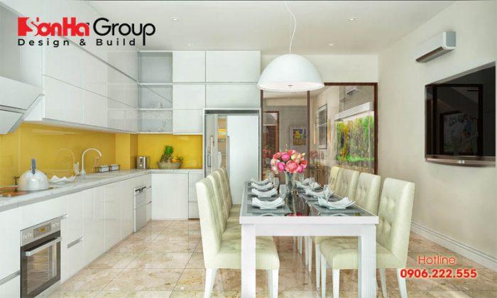 Cách bố trí phòng bếp ăn sang trọng được nhiều gia chủ Việt ưa chuộng đầu tư thiết kế nhất