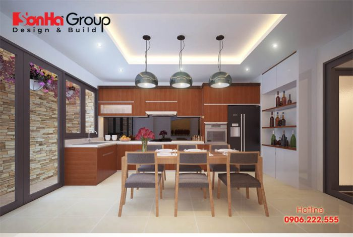 Ngắm nhìn mẫu phòng bếp ăn đẹp với màu sắc trang trí hợp thời