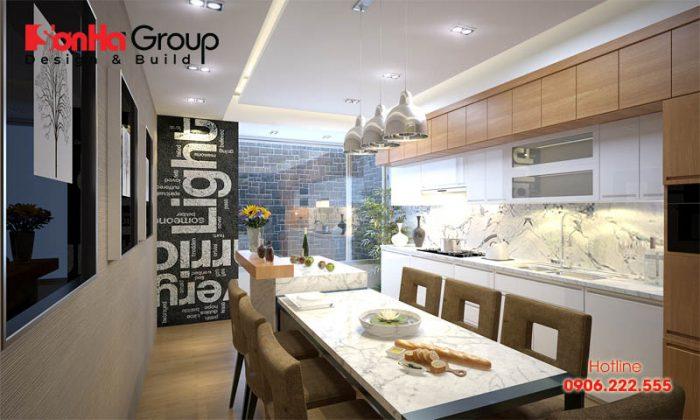 Mẫu phòng bếp ăn hợp phong thủy rước lộc vào nhà cho gia đình Việt