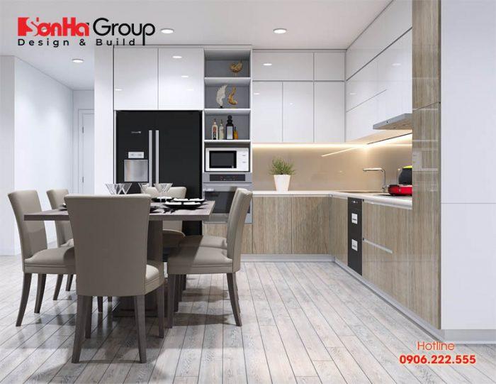 Ý tưởng trang trí phòng bếp diện tích nhỏ với nội thất hiện đại, tiện nghi