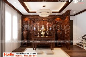 10 Không gian nội thất phòng thờ tôn nghiêm tại khu đô thị vinhomes imperia hải phòng