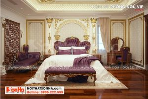 11 Không gian nội thất phòng ngủ vip2 biệt thự lâu đài tại long an sh btld 0041