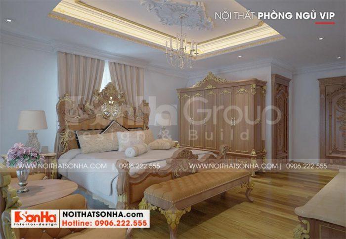 Kiểu dáng nội thất đẹp, độc đáo mang đến cho không gian ohòng ngủ sự sang trọng và ấm cúng