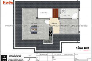 21 Mặt bằng tầng tum biệt thự 4 phòng ngủ kiểu tân cổ điển tại khu đô thị vinhomes imperia hải phòng