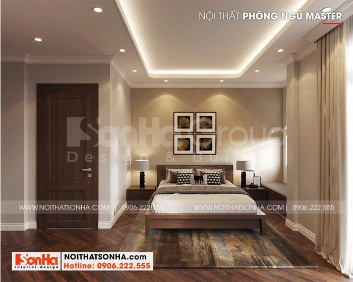 Thiết kế nội thất phòng ngủ master đẹp, sang trọng và ấm cúng dành cho vợ chồng gia chủ