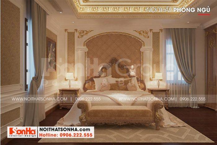 Không gian phòng ngủ với nội thất cổ điển châu Âu sang trọng thiết kế theo xu hướng mới nhất