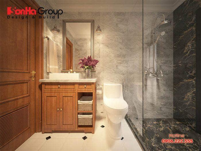 Trần phòng vệ sinh nên thiết kế cao tối thiểu là 2,2m để đảm bảo sự thông thoáng