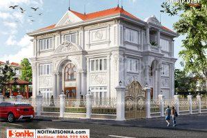 1 Kiến trúc biệt thự tân cổ điển đẹp tại hà nội sh btp 0151