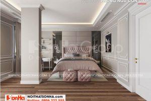 11 Bố trí nội thất phòng ngủ con gái cao cấp tại hà nội sh btp 0151