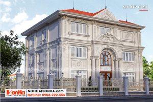 2 Thiết kế biệt thự tân cổ điển 3 tầng tại hà nội sh btp 0151