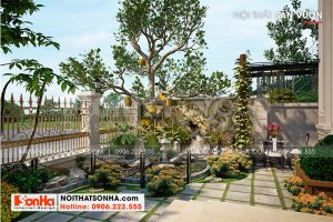 20 Trang trí sân vườn đẹp tại hà nội sh btp 0151