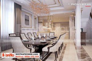 6 Bố trí nội thất phòng ăn sang trọng tại hà nội sh btp 0151
