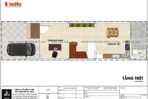 13 Bản vẽ lầu tầng trệt nhà ống hiện đại 4 tầng tại sài gòn sh nod 0222