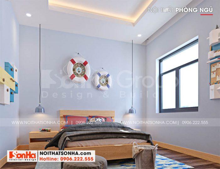 Thiết kế phòng ngủ 3 hiện đại trong nhà phố Hoàng Huy Mall 4 tầng tại Hải Phòng