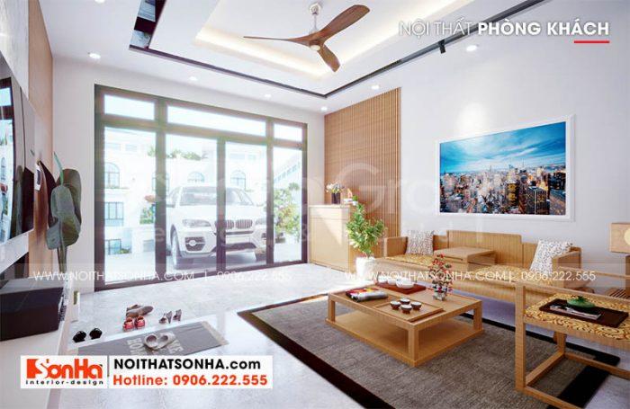 Phòng khách nhà phố Hoàng Huy Mall sang trọng tại Hải Phòng